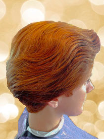 roots organic medium short haircut sideview of red haired woman
